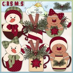 Christmas Cups 2 - Non-Exclusive Trina Clark Clip Art : Digi Web Studio, Clip Art, Printable Crafts & Digital Scrapbooking!