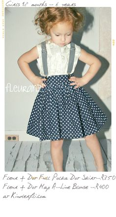 Twirl Skirt Extra Full Skirt in Navy Blue - I love every single detail about this outfit, from the hair, to the skirt! Fashion Kids, Little Girl Fashion, My Little Girl, My Baby Girl, Toddler Fashion, Style Fashion, Modest Fashion, Kids Outfits, Cute Outfits