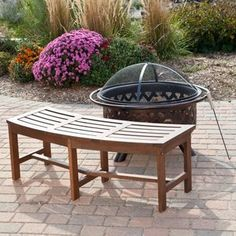 Coral Coast Cabos Curved Backless Fire Pit Bench - Java Brown