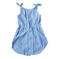 Tie Dress, Blue Stripe