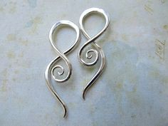 Sterling Silver Earring Spirals for by AUNALIArtisanMetal on Etsy,