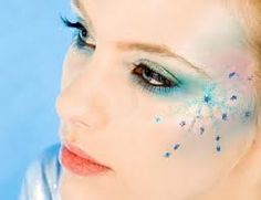 Snowflake inspired makeup