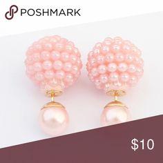 Pink Double Sided Earrings Gorgeous double sided earrings. New in package. Jewelry Earrings