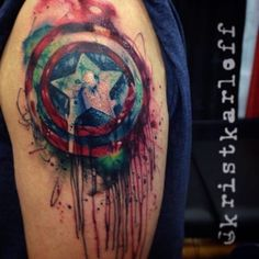 Superhero tattoo