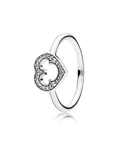 The PANDORA Disney Mickey Silhouette Ring is a sterling silver ring and features the iconic Mickey Mouse Ears Silhouette. The ring features a cut-out of the ...