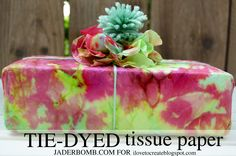 Tie-Dyed Tissue Paper, Gift Wrap