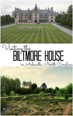 The Biltmore House in Asheville North Carolina. Family vacation ideas.