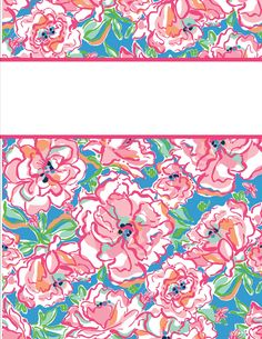 Kraftie Katie Lilly Pulitzer Binder Covers Diy Free Printable