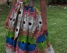 African Print Fit et Salut-Lo robe évasée. par NanayahStudio