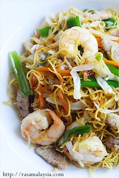 Chinese Recipe: Chow Mein (Chinese Noodles) - one of the most popular Chinese noodles in the US.