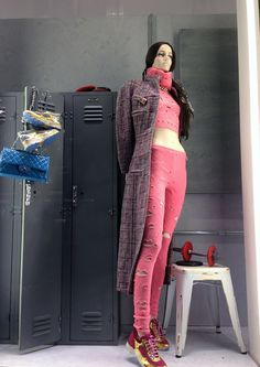 Chanel via stylecurated Sports themed window display by of all people - Chanel.  Find mannequins for your window displays at MannequinMadness.com