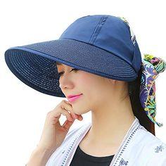 386a372d731 UV Sun hats women summer hats Sun (Navy blue 1) 30th floor http