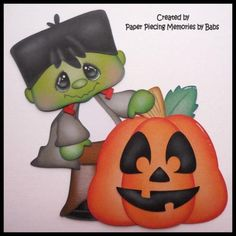 Halloween-Frankie-Premade-Paper-Piecing-for-Scrapbook-Pages-by-Babs