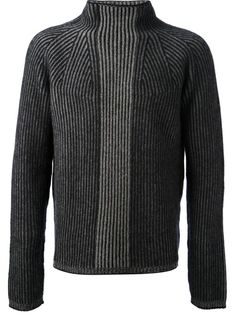 JIL SANDER - ribbed roll neck sweater 6...would be nice to adapt this into a fitted version for a woman