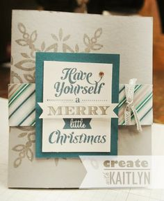 Create with Kaitlyn: Monday Montage - Festive Flurry Gift Card Holder