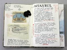 Moleskine notebooks to open in Istanbul. Travel, journal, sketchbook, notebook, dairy, words and images, drawing.