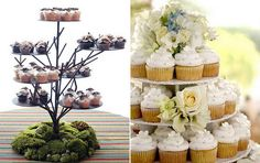 [ Cupcake Wedding Cakes Stylish Eve 22 ] - Best Free Home Design Idea & Inspiration Scroll Wedding Cake, Mini Wedding Cakes, Wedding Cake Stands, Wedding Cakes With Cupcakes, Unique Wedding Cakes, Fun Cupcakes, Wedding Cake Toppers, Diy Wedding, Cupcake Cakes