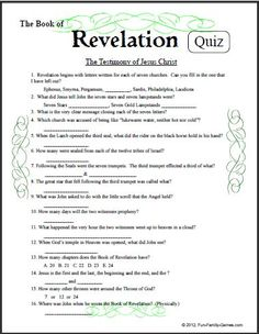 Our Bible Games covers a wide spectrum of people, places, events and general knowledge of what is between the pages of Genesis and Revelation. Bible Trivia, Bible Games, Trivia Games, Trivia Questions For Adults, Bible Quiz Questions, Best Study Bible, Bible Study For Kids, Family Fun Games, Group Games