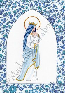 vierge à l'enfant liberty fleur 2 Communion, Art And Craft Design, Blessed Virgin Mary, Ova, Fabric Art, Religion, Photos, Arts And Crafts, Bible