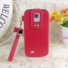 Klogi Case Cover Detachable Hand Strap for Samsung Galaxy S4 - Red