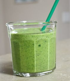 This is delicious!  Great way to use up my kale.    No source, just tossed the stuff I like into the blender.      Ingredients:   1 med...