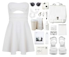 """White Summer"" by fragmentoftheuniverse ❤ liked on Polyvore featuring Topshop, Miss Selfridge, Nly Shoes, Club Monaco, Proenza Schouler, Pop Beauty, Illesteva, NARS Cosmetics, Fresh and philosophy"