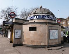 Clapham North Tube station on the London Underground system.