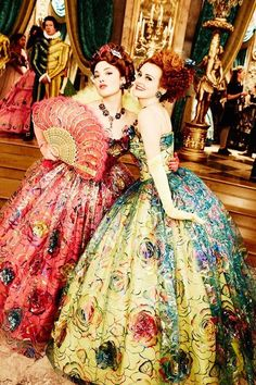 The Ugly Stepsisters, Disney, Cinderella, 2015 Cinderella 2015, Cinderella Live Action, Cinderella Movie, Cinderella Stepsisters, Lily James, Disney Live, Disney Magic, Robes Disney, Anastasia And Drizella