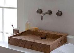 Lavabo de madera