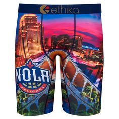 c650139fdd071 New Orleans Pelicans Ethika for Fanatics Youth Baller Boxer Brief - Navy