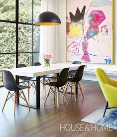 25 Modern Dining Room Decorating Ideas - Contemporary and Traditional Wall art quotes Diy wall art Wall art living room Kitchen wall decor Bedroom wall art Wall art prints Upper Century Dining Room Walls, Dining Room Design, Dining Area, Dining Table, Bedroom Decor, Wall Decor, Bedroom Wall, Diy Wall, Wall Lamps