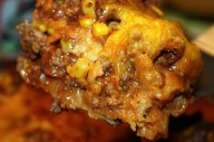 beef enchilada casserole | My favorite bloggers Beef Enchilada Casserole such cheesy goodness you ...