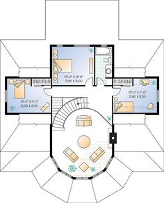 Second Floor Plan Of Coastal Victorian House Plan 64807