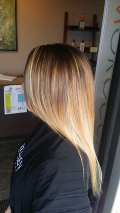 Summer sombre', platinum ash blondes with caramel  hair artist: Tabitha Metzler