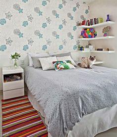 Quarto de casal. Apartamento pequeno. www.comprandomeuape.com.br