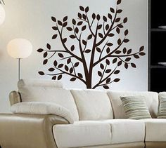 Tree Wall Decal Tree Wall Sticker Living Room by ArtHomeDecals