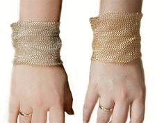 Bracelet Crochet, Mesh Bracelet, Gold Bangle Bracelet, Silver Bracelets, Cuff Bracelets, The Bangles, Jewelry Logo, Leaf Jewelry, Silver Jewelry