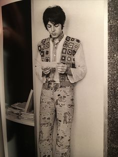 Beatle Paul McCartney. That's one colorful outfit Macca!