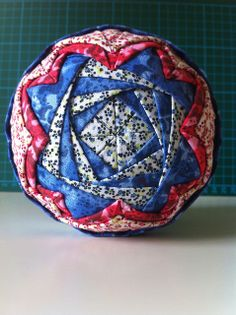 Red, White & Blue Quilted Christmas Ornaments