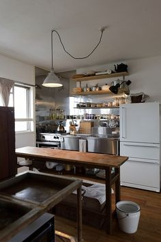 for a small functional kitchen, what is on the other side of the room? Pantry and dishes? Kitchen Inspirations, House Interior, Small Kitchen, Home Kitchens, Cheap Home Decor, Kitchen Design, Kitchen Room, Kitchen Dining Room, Home Decor