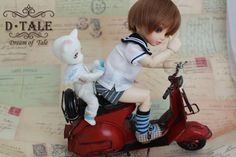 D Tale is a new BJD webshop and this object is one of what they offer. I so liked this picture with that little cat sitting there in the back : )