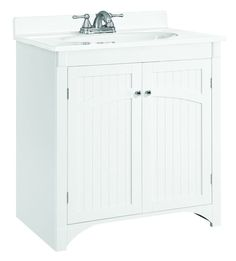 """View the Design House 541565 Cottage 30"""" Wood Vanity Cabinet Only at FaucetDirect.com."""