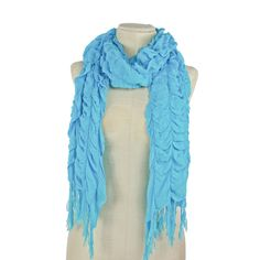 Check out this Ruffled Turquoise Scarf with an MSRP of $48.00, but available for $15.00 only @ nomorerack.com