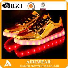 hot sale gold led shoes silver led shoes fashion adults light up shoes wholesale for retails