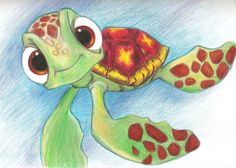 Finding Nemo Sketches | Squirt from Finding Nemo :D by BlackRoseXOX.deviantart.com