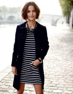 Boden stripy tunic + coat