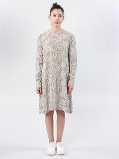 Maurine Gobelin Dress in light print by Dagmar SS16