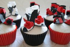 Mini shoe cupcakes by Cotton and Crumbs, via Flickr