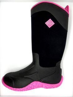 Brand New Muck Boot WAA-404 Women&39s BlackHot Pink Arctic Adventure