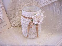 Beautiful decorated mason jar